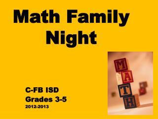 Math Family Night