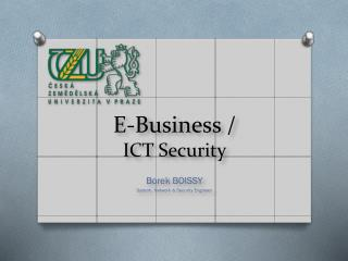 E-Business / ICT Security