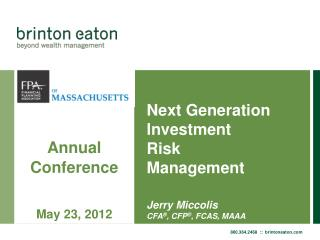 Next Generation Investment Risk  Management