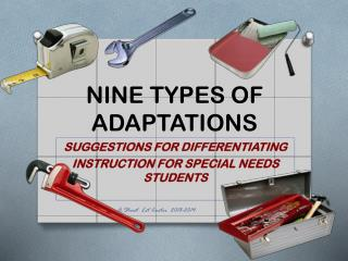 NINE TYPES OF ADAPTATIONS