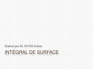 Intégral de surface