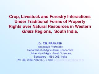 Crop, Livestock and Forestry Interactions Under Traditional Forms of Property Rights over Natural Resources in Western G
