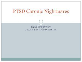 PTSD Chronic Nightmares