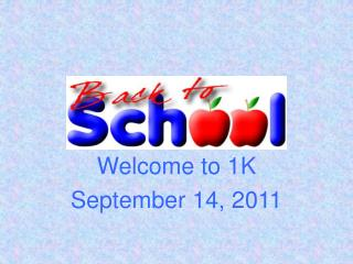 Welcome to 1K September 14, 2011