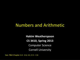 Numbers and Arithmetic
