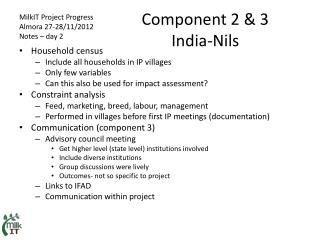 Component 2 & 3 India-Nils