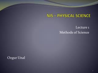 NIS � PHYSICAL SCIENCE