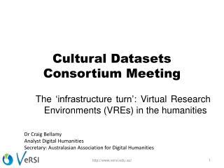 Cultural Datasets Consortium Meeting
