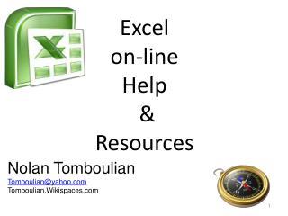 Excel  on-line  Help  &  Resources