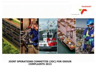 JOINT OPERATIONS COMMITTEE (JOC) FOR ODOUR COMPLAINTS 2013