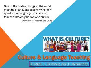 Culture & Language Teaching