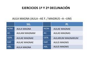EJERCICIOS 1ª Y 2ª DECLINACIÓN