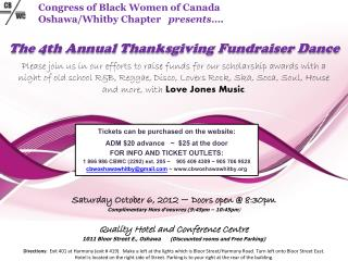 The 4th Annual Thanksgiving Fundraiser Dance