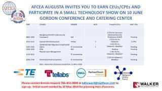 AFCEA Trade Show and Training