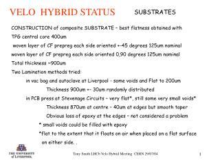 Tony Smith LHCb Velo Hybrid Meeting  CERN 29