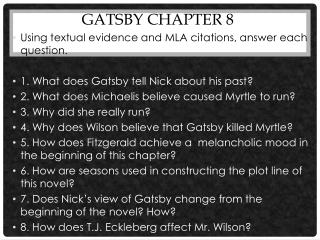 Gatsby Chapter 8