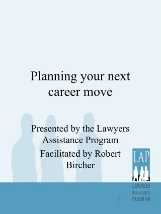 Planning your next career move