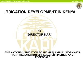 IRRIGATION DEVELOPMENT IN KENYA