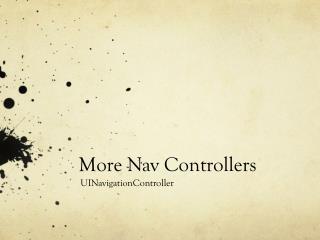 More  Nav  Controllers