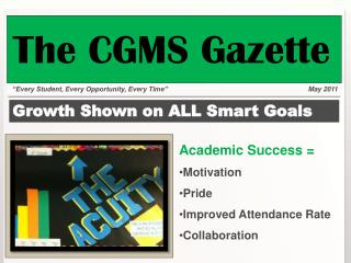 Growth Shown on ALL Smart Goals