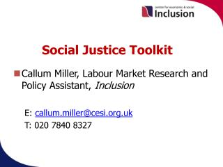 Social Justice Toolkit