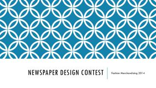 Newspaper Design Contest