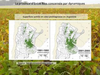 Superficie  semée  en  oléo-protéagineux  en  Argentine