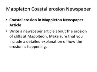 Mappleton  Coastal erosion Newspaper