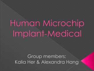 Human Microchip Implant-Medical