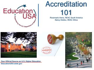 Accreditation  101 Rosemarie Arens, REAC South  America Nancy Keteku, REAC Africa
