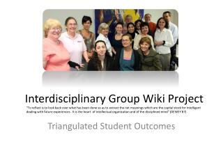 Interdisciplinary Group Wiki Project