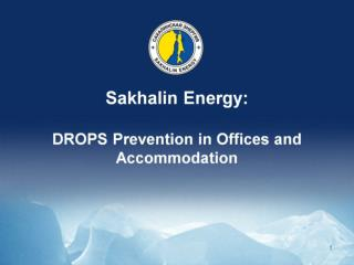 Sakhalin Energy: DROPS Prevention in Offices and Accommodation