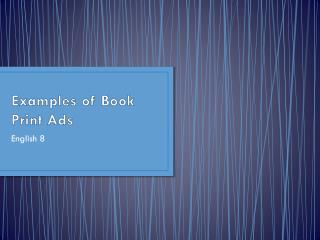 Examples of Book Print Ads