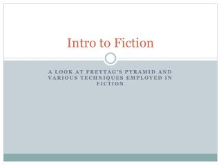 Intro to Fiction