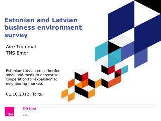 Estonian and Latvian business environment  survey