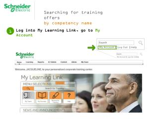 Searching for  training offers  by competency name