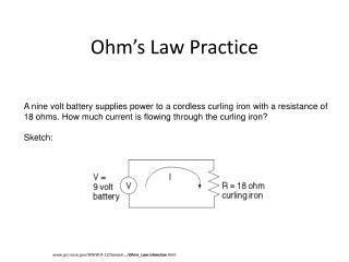 Ohm�s Law Practice
