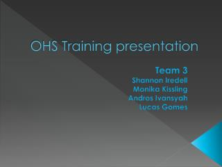 OHS Training presentation