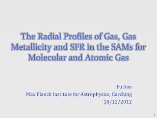 The Radial Profiles of Gas, Gas Metallicity and SFR in the SAMs for Molecular and Atomic Gas