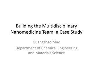 Building the Multidisciplinary Nanomedicine Team: a Case Study