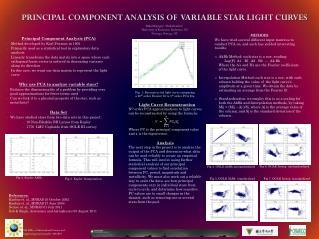 PRINCIPAL COMPONENT ANALYSIS OF  VARIABLE STAR LIGHT CURVES