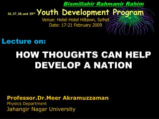 HOW THOUGHTS CAN HELP DEVELOP A NATION