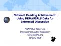 National Reading Achievement:  Using PISA