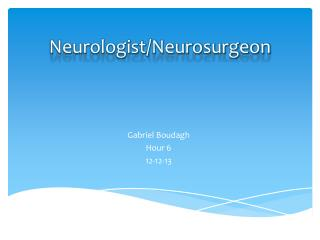 Neurologist/Neurosurgeon