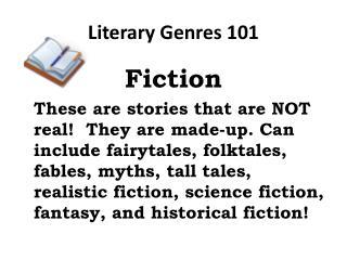 Literary Genres 101