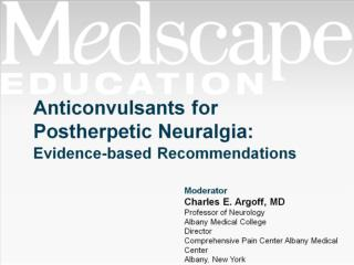 Anticonvulsants for Postherpetic Neuralgia: