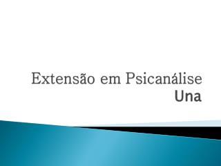 Extensão em Psicanálise