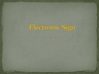 Electronic Sign