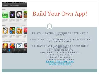 Build Your Own App!