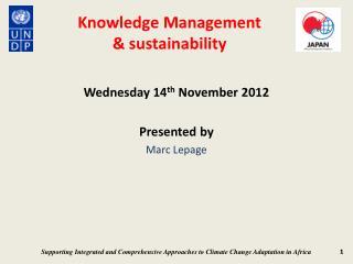 Knowledge Management & sustainability